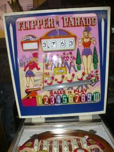 Gottlieb Flipper Parade - Backglass